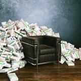 En sparad encentmynt är en tjänad encentmynt - stora pengar för stort framstickande Arkivbilder