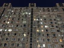 En special vinkel om hel byggnad arkivfoto