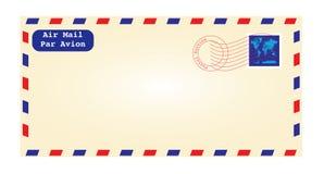 Air postar kuvertet Royaltyfri Fotografi