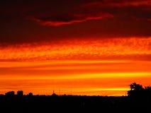 En spektakulär himmel Arkivfoto
