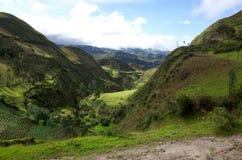 En spektakulär sikt av ecuadorianska Anderna Royaltyfria Foton