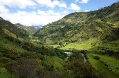 En spektakulär sikt av ecuadorianska Anderna Fotografering för Bildbyråer