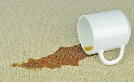 En spilld kopp kaffe Royaltyfri Foto