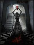 En spöke av en ung kvinna Fotografering för Bildbyråer