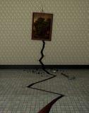 En spricka i väggen Arkivfoton