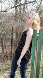 En stående av en härlig ung flicka Fotografering för Bildbyråer