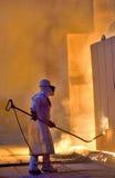 En stålarbetare Fotografering för Bildbyråer
