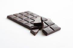 En stång av mörk choklad Arkivfoton