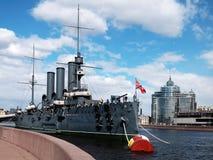 `en St Petersburg för kryssare`-morgonrodnad royaltyfri foto