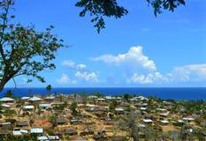 En stad i Mocambique, Afrika. Indisk havkust. Arkivfoto
