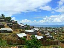 En stad i Mocambique, Afrika. Indisk havkust. Arkivbild