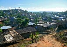En stad i Mocambique, Afrika. Indisk havkust. Royaltyfri Fotografi