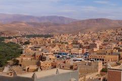 En stad nära oas i Tineghir, Marocko fotografering för bildbyråer