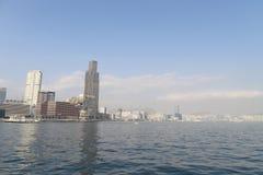 en stads- arkitektur i Hong Kong Victoria Harbor Arkivfoto