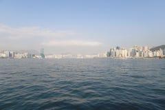 en stads- arkitektur i Hong Kong Victoria Harbor Royaltyfri Fotografi