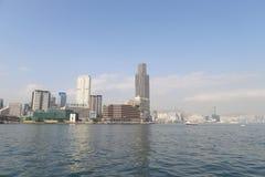 en stads- arkitektur i Hong Kong Victoria Harbor Royaltyfria Foton
