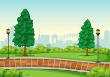 En stads- maximal bakgrund vektor illustrationer