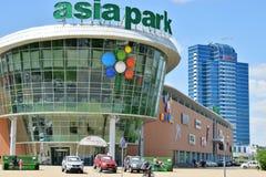 En stadssikt av Astana/Kasakhstan arkivbild