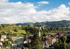 En stadssikt av Berne, Switerzerland huvudstad Royaltyfri Fotografi