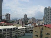 En stadssikt av Manila, Filippinerna royaltyfri bild