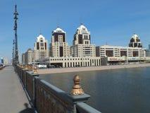 En stadssikt i Astana Arkivbild