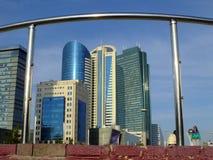 En stadssikt i Astana/Kasakhstan Royaltyfri Foto