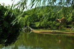En stadsträdgård i Zhuhzhou Arkivbilder