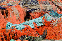 En stapel av fisknät Royaltyfri Foto