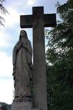 En staty av den jungfruliga Maryen Fotografering för Bildbyråer
