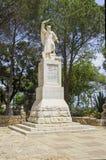 En staty av Elijah profeten på monteringen Carmel Israel fotografering för bildbyråer