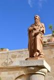 En staty av hieronymusen Arkivbild