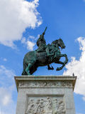 En staty av konungen Philip III i Plazaborgmästare Fotografering för Bildbyråer