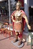 En staty av en romersk gladiator royaltyfri foto