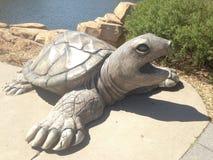 En staty av sköldpaddan Arkivfoto