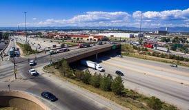 25 en 58ste Weg tusen staten in Denver Royalty-vrije Stock Afbeeldingen