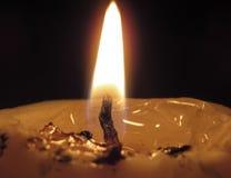 En stearinljus Fotografering för Bildbyråer