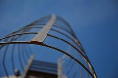 En stege på en silo arkivfoto