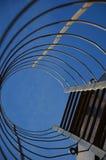 En stege på en silo royaltyfria bilder