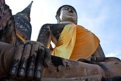 En stenmonk från Ayutthaya Arkivbild