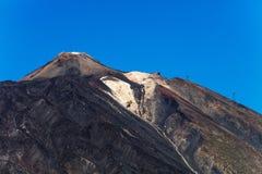 En stigande sikt av `-Pico del Teide `, den färgglade Teide vulkan i den Teide nationalparken, Tenerife, kanariefågelöar Royaltyfri Fotografi