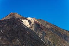 En stigande sikt av `-Pico del Teide `, den färgglade Teide vulkan i den Teide nationalparken, Tenerife, kanariefågelöar Fotografering för Bildbyråer