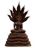 En stil av Buddha med en naga över hans head snabba bana Arkivfoto