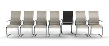 En stol som kliver ut ur linje Royaltyfria Bilder
