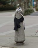 En stolpe klädde riktigt för vintern på Seattle, Washington 9 Royaltyfria Foton