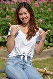 En stolta Filipina Woman royaltyfria bilder