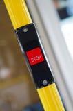 En stoppknapp i bussen Fotografering för Bildbyråer