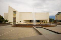 En stor bild av ett historiemuseum i Mexico royaltyfria bilder