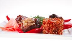 en stor bit grillade meat Royaltyfria Bilder