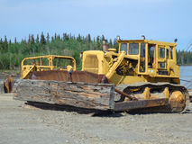 En stor bulldozer Royaltyfria Bilder