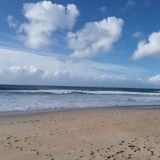 En stor dag på stranden arkivfoton